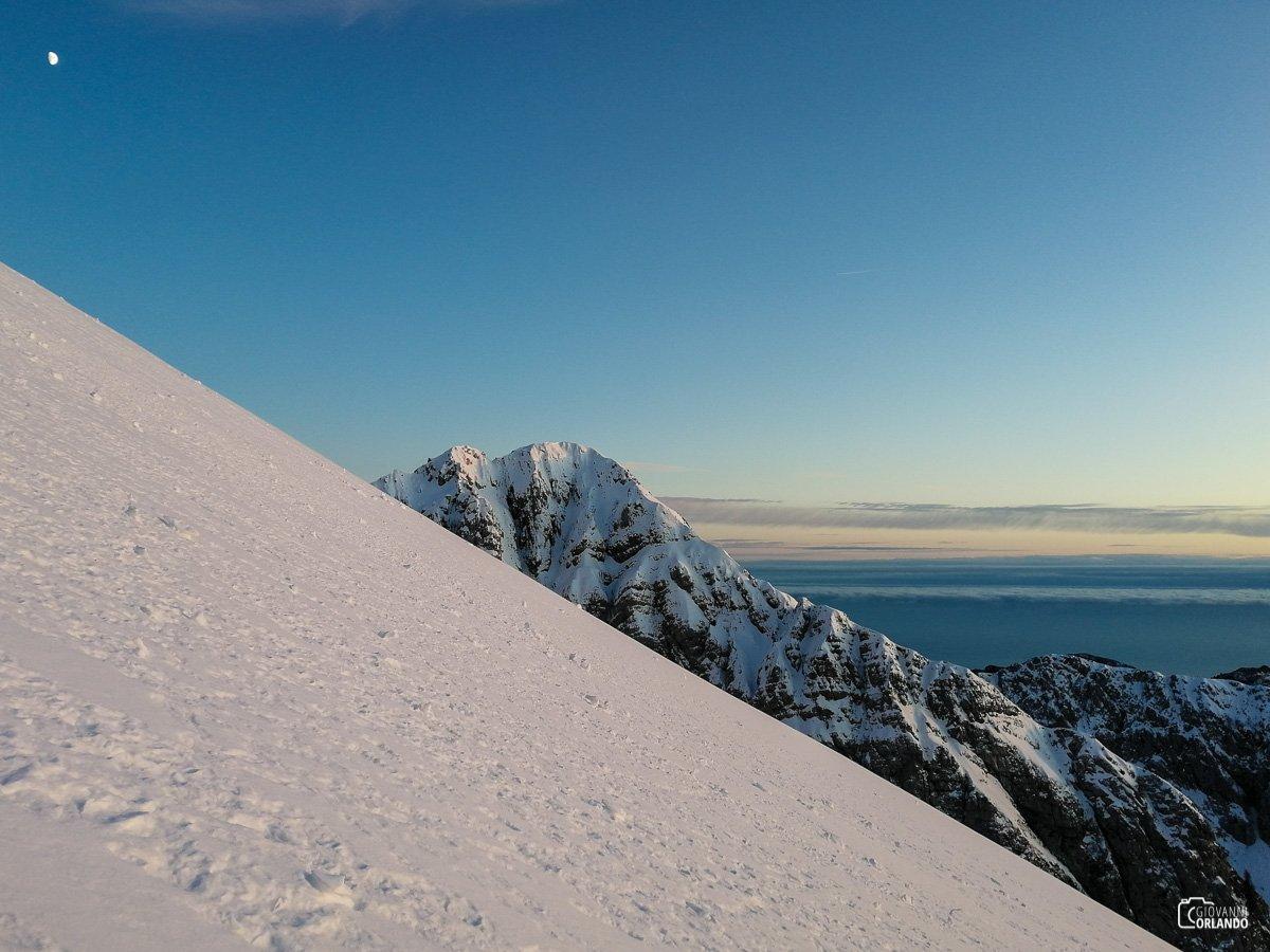 Il tramonto in montagna regala sempre momenti speciali