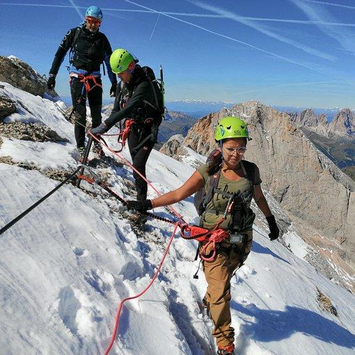 ferrata Cresta Ovest Marmolada 510 | Giovanni Orlando Guida Alpina