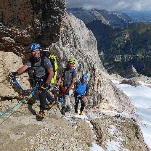 ferrata Cresta Ovest punta Penia 510 | Giovanni Orlando Guida Alpina