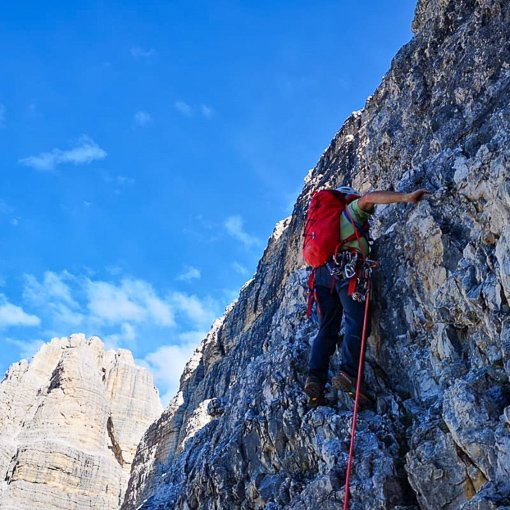 via normale Cima Grande di Lavaredo 510 | Giovanni Orlando Guida Alpina
