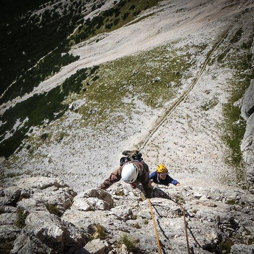 Primo Spigolo Tofana di Rozes 510 | Giovanni Orlando Guida Alpina
