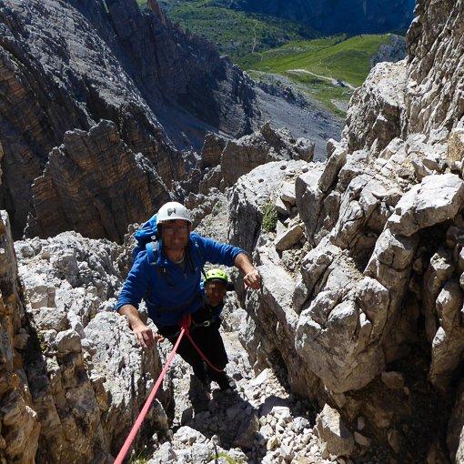 via normale cima Ovest di Lavaredo 510 | Giovanni Orlando Guida Alpina