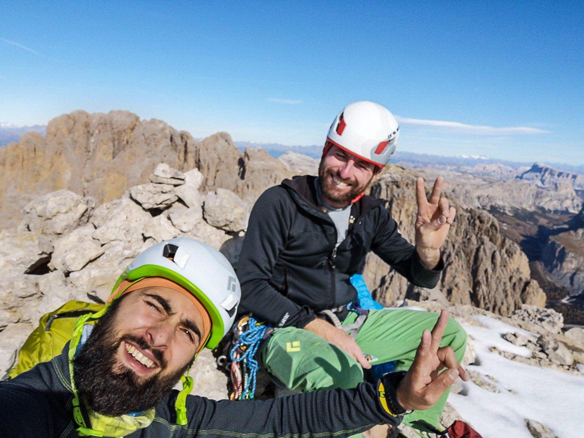 Punta Grohmann – via Dimai: Selfie di vetta. Panirama ne abbiamo?