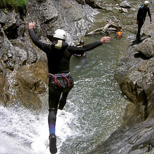 Canyoning Val Maggiore Nevegal 510 | Giovanni Orlando Guida Alpina
