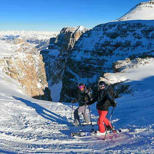Freeride Dolomiti Val Mesdi Sella 510 | Giovanni Orlando Guida Alpina