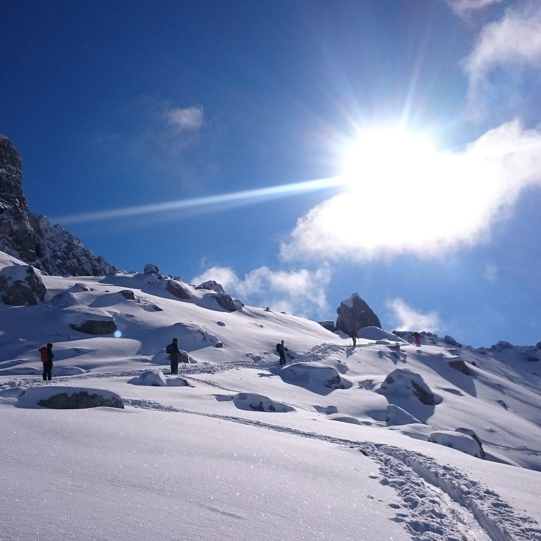 scialpinismo Dolomiti forcella Giau monte Mondeval 510 | Giovanni Orlando Guida Alpina