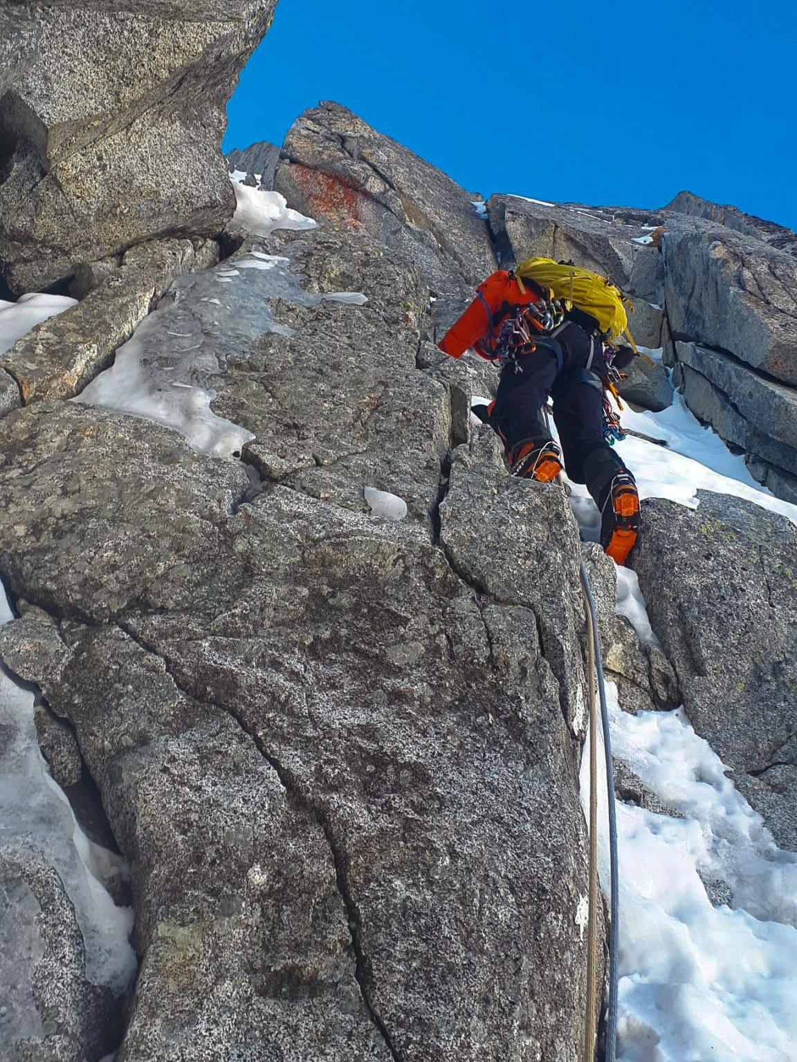 Monte Nero di Presanella – Clean Climb - Partenza del quinto tiro
