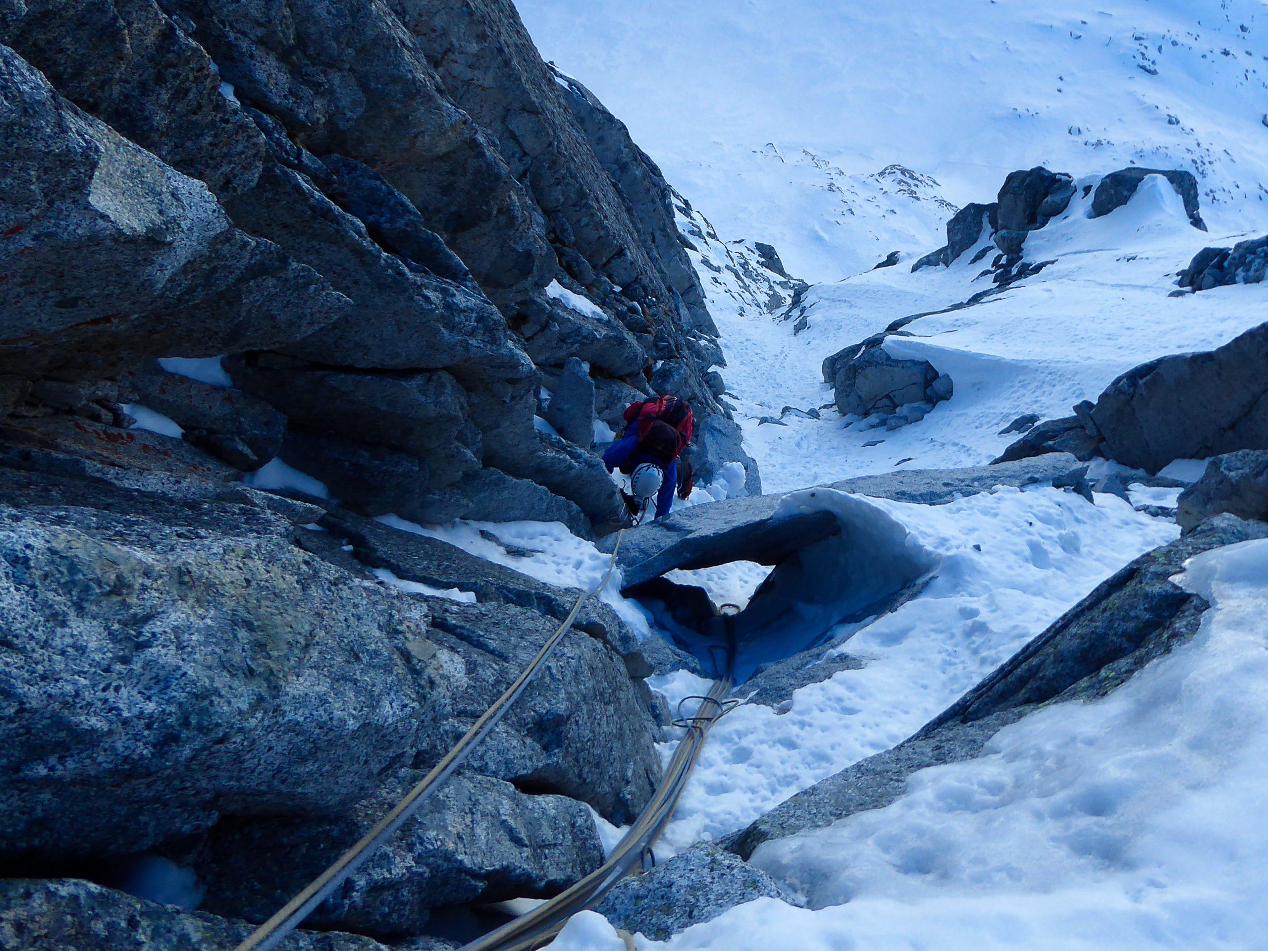 Monte Nero di Presanella – Clean Climb - Quinto tiro di corda