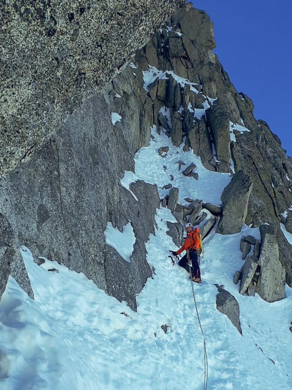 Monte Nero di Presanella – Clean Climb - In partenza per l'ultimo tiro