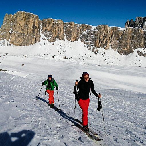 scialpinismo guida alpina Dolomiti forcella Giau Corvo Alto 510 | Giovanni Orlando Guida Alpina